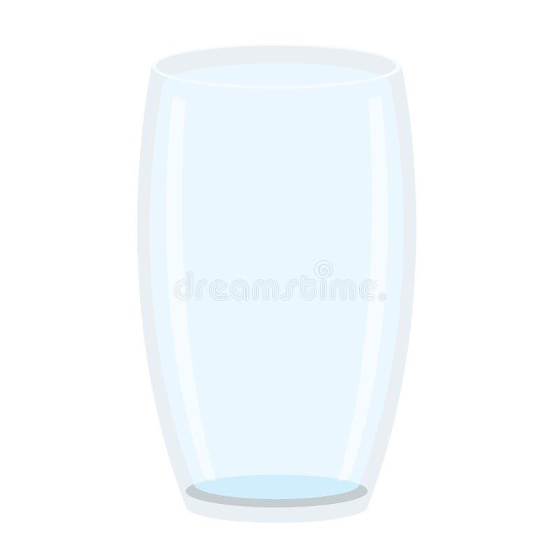 Glastrinkwasser auf weißem Hintergrundillustrationsvektor lizenzfreie abbildung