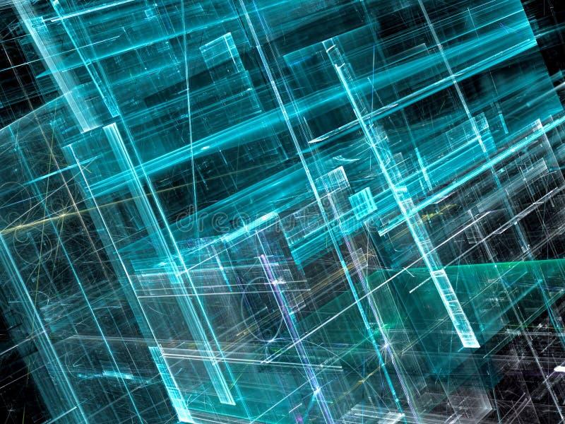 Glasväggar - frambragd bild för abstrakt begrepp digitalt royaltyfri illustrationer