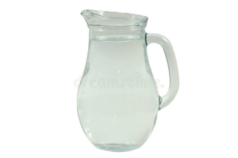 Glasvase mit Wasser stockfotografie