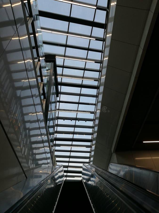 Glasvoorgevel bij MRT Muzium Negara royalty-vrije stock afbeeldingen