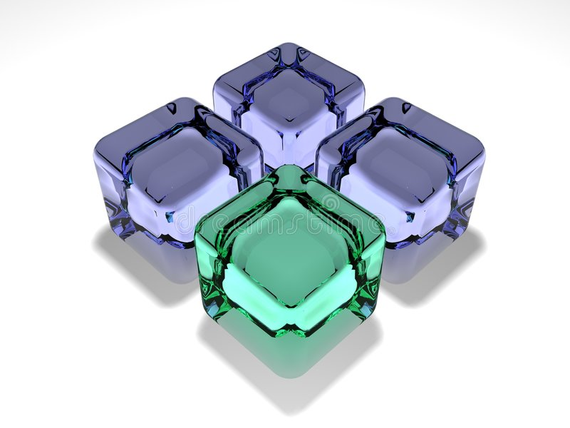 Glaswürfel stock abbildung