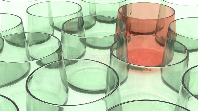 Glaswarentrommel stock abbildung