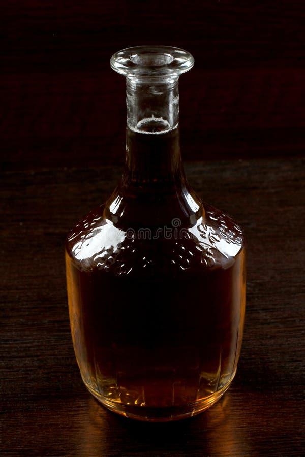 Glaswhisky op dark vijf royalty-vrije stock afbeelding