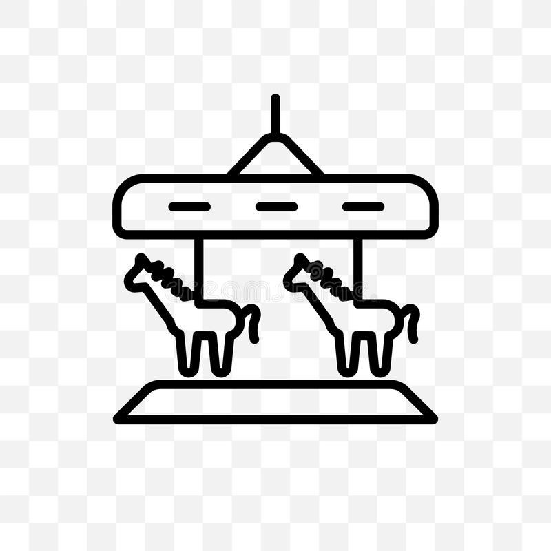 Glat går den runda linjära symbolen för vektorn som isoleras på genomskinlig bakgrund som är glad går rundastordiabegreppet kan a royaltyfri illustrationer
