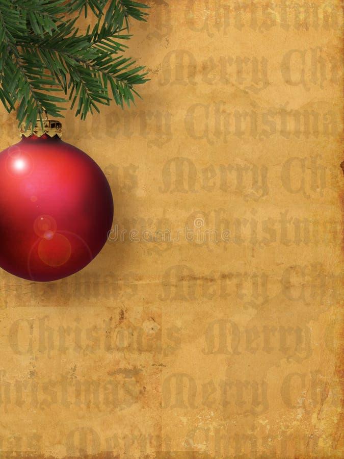 Glat träd för plats för prydnad för julbokstavsbakgrund royaltyfria foton