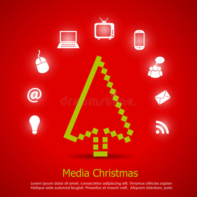 Glatt julkort stock illustrationer