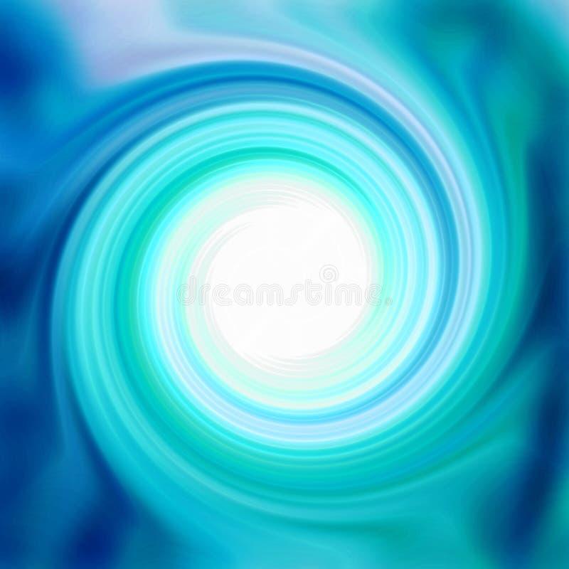 Glatte Aqua Swirl stock abbildung