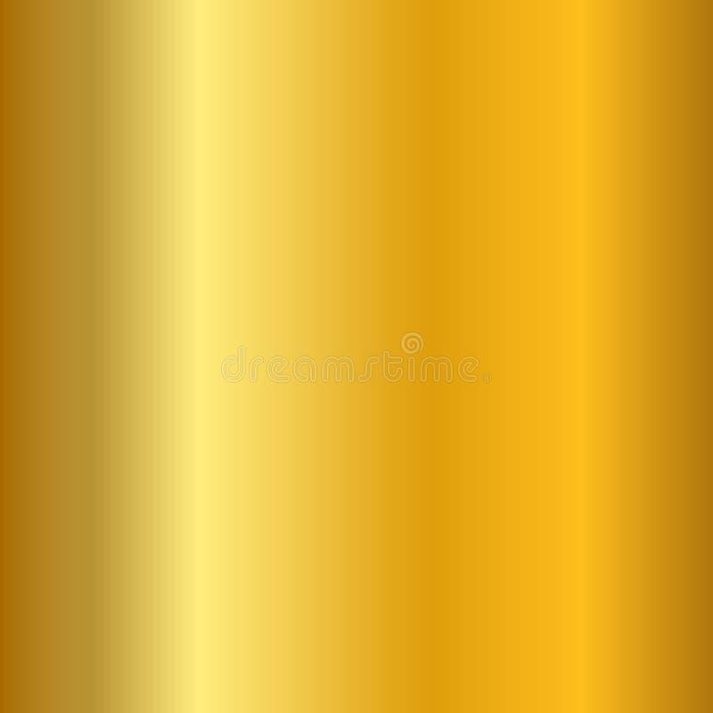 Glatte Beschaffenheit der Goldsteigung Leerer goldener Metallhintergrund Helle metallische Plattenschablone, abstraktes Muster he stock abbildung