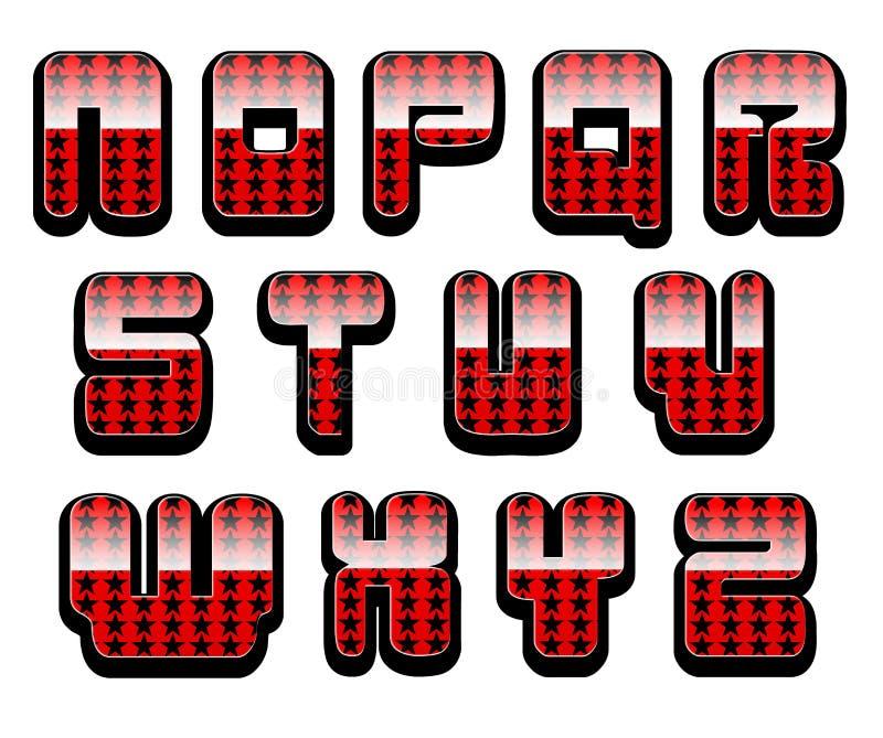 Glatte Buchstaben stellten 2 ein stockbild