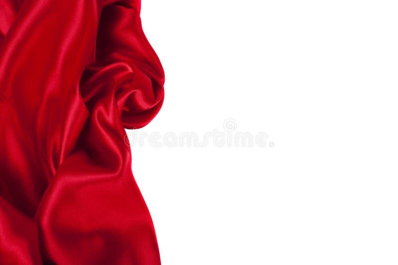 Glatte elegante rote Seide kann als Hintergrund verwenden lizenzfreies stockbild