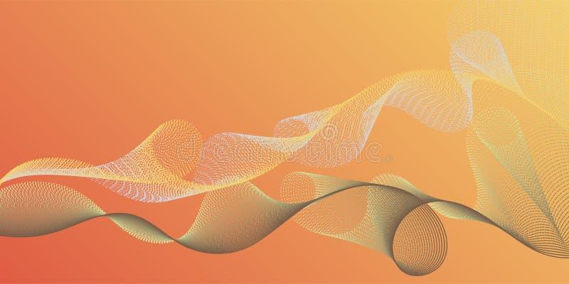 Glatte Fadenkurven winken kreativen Hintergrund zu lizenzfreie abbildung