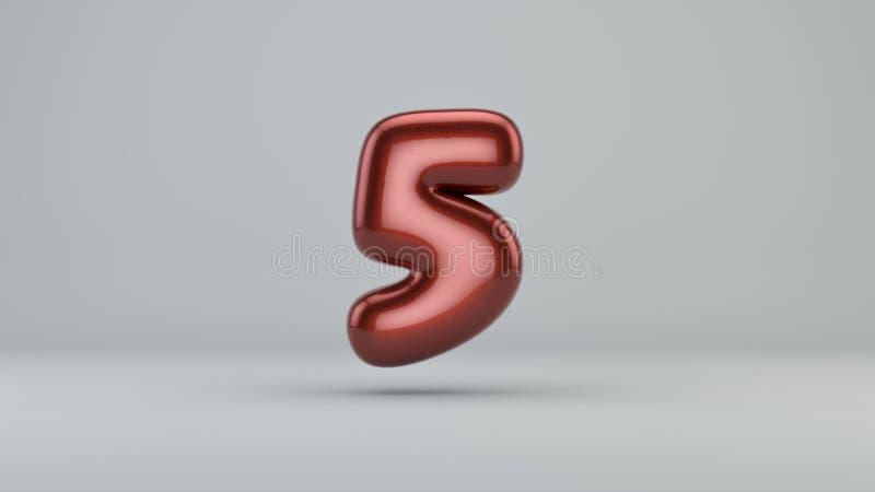 Glatte Farbe Nr. 5 3D übertragen vom Blasenguß mit Schimmer I lizenzfreie abbildung