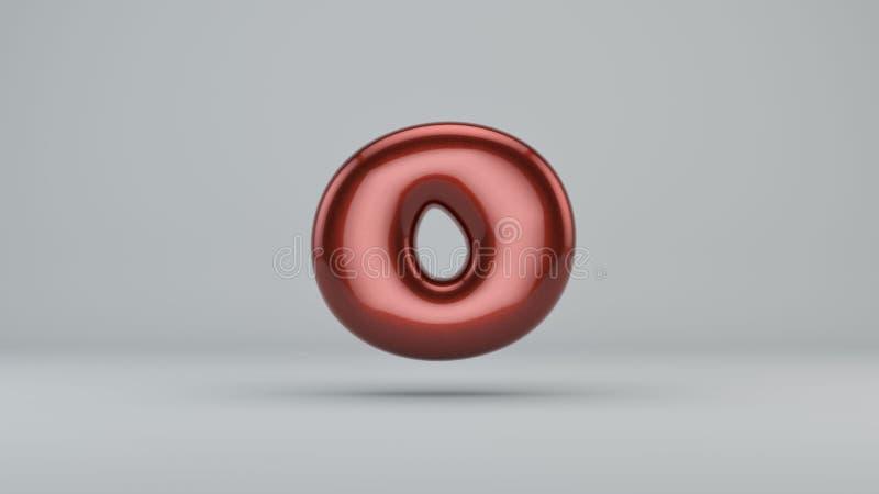 Glatte Farbe Nr. 0 3D übertragen vom Blasenguß mit Schimmer I stock abbildung