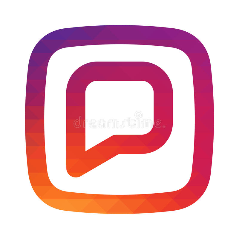 Glatte Farbsteigungskommentare instagram Ikone Für Ihr Social Media-APP-Design lizenzfreie abbildung