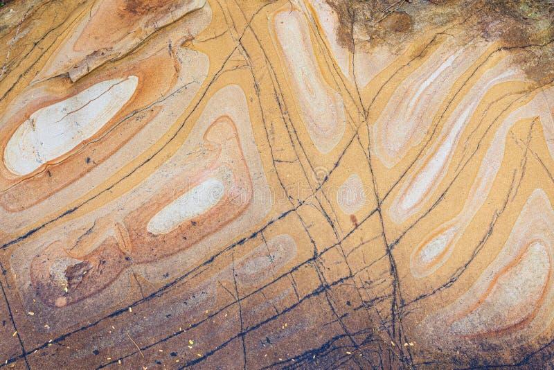 Glatte Formen der natürlichen Sandsteinmuster lizenzfreies stockbild