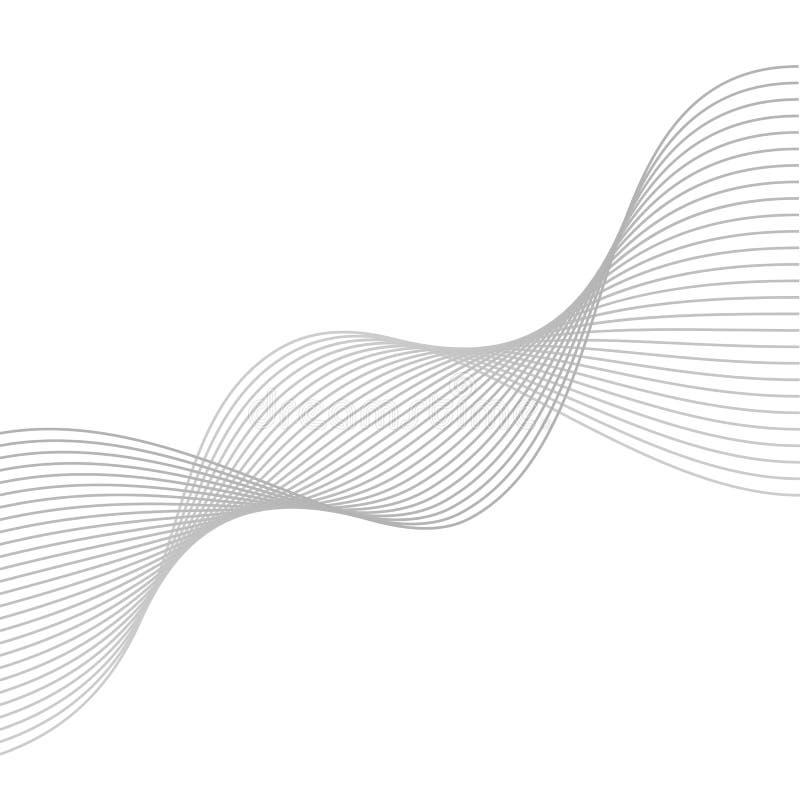 Glatte Grauwellen Abstrakte vektorzeilen mischung lizenzfreie abbildung