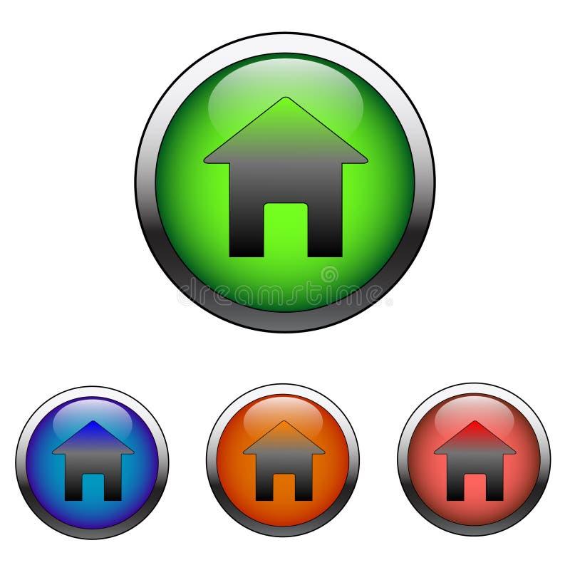 Glatte Hauptzeichen-Ikone (Vektor) lizenzfreie abbildung
