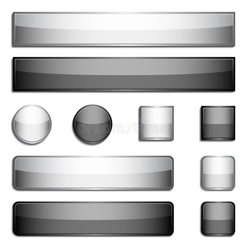 Glatte Metalltasten lizenzfreie abbildung