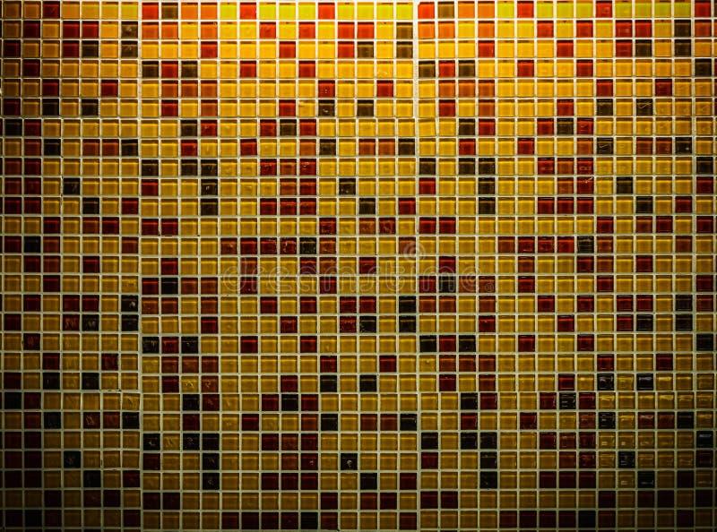 Glatte Mosaikkeramikfliesen stockbild