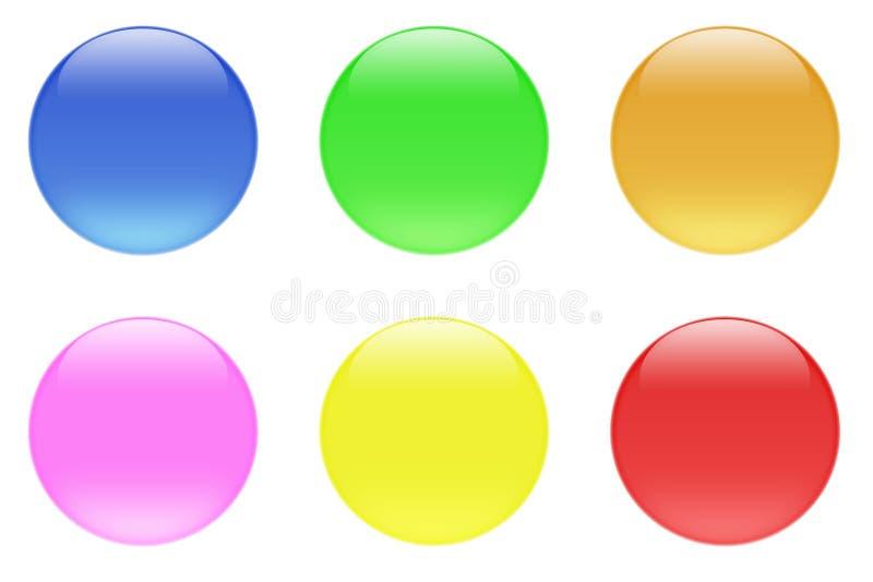 Glatte Süßigkeit-Kristall-Tasten lizenzfreie abbildung
