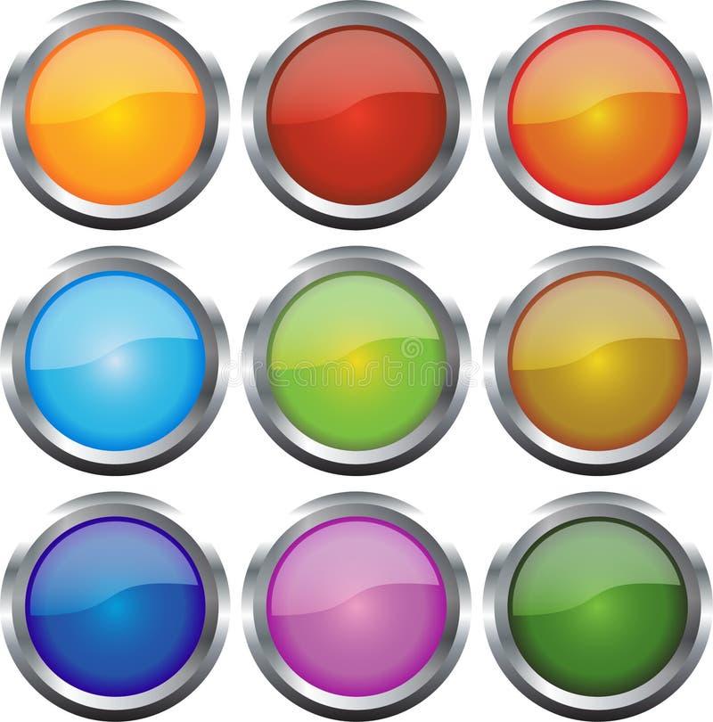 Glatte Web-Ikonen lizenzfreie abbildung