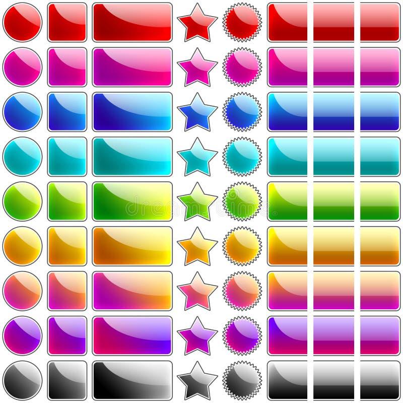 Glatte Web Tasten lizenzfreie abbildung