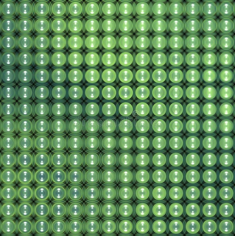 glatter abstrakter mit Ziegeln gedeckter Hintergrund der Blase 3d in grün-blauem vektor abbildung