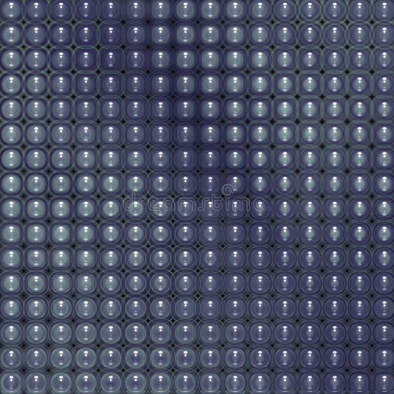 glatter abstrakter mit Ziegeln gedeckter Hintergrund der Blase 3d im Blau vektor abbildung