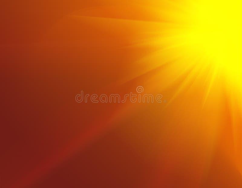 Glatter Auszugshintergrund der roten Leuchte vektor abbildung