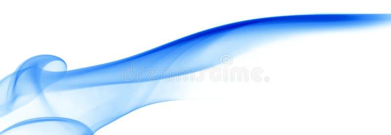 Glatter blauer Rauch stock abbildung