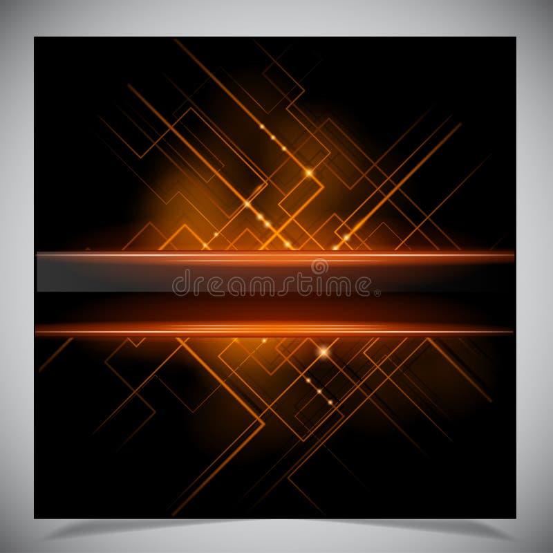 Glatter bunter abstrakter techno Hintergrund lizenzfreie abbildung