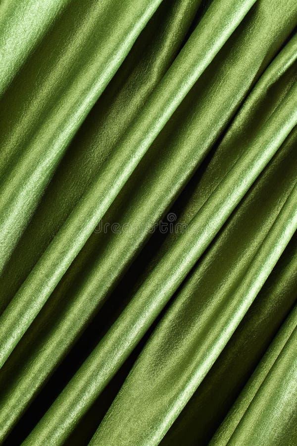 Glatter eleganter grüner Satin lizenzfreie stockfotos