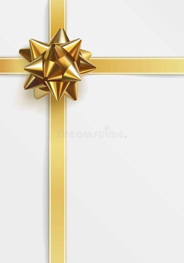 Glatter goldener Bogen Datei ENV-8 eingeschlossen vektor abbildung