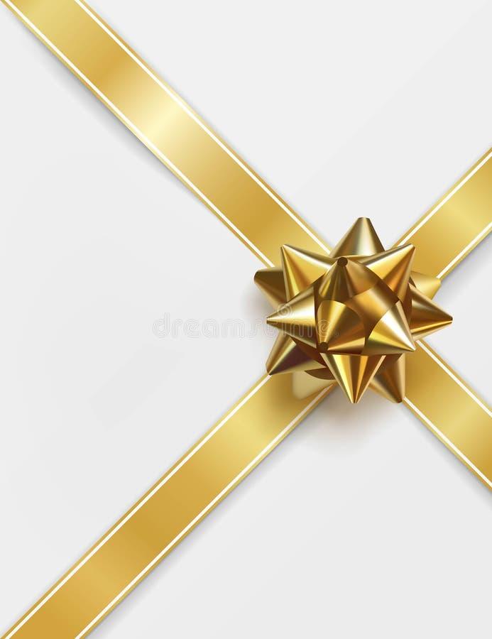 Glatter goldener Bogen Datei ENV-8 eingeschlossen stock abbildung
