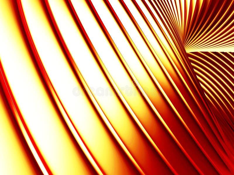 Glatter Hintergrund der goldenen gestreiften Wellenzusammenfassung lizenzfreie abbildung
