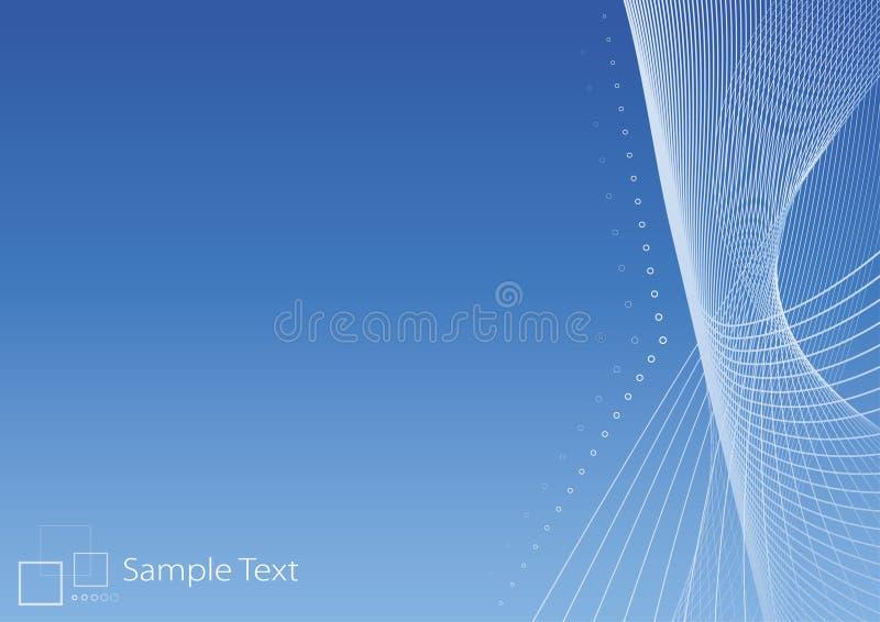 Glatter moderner blauer Hintergrund lizenzfreie abbildung