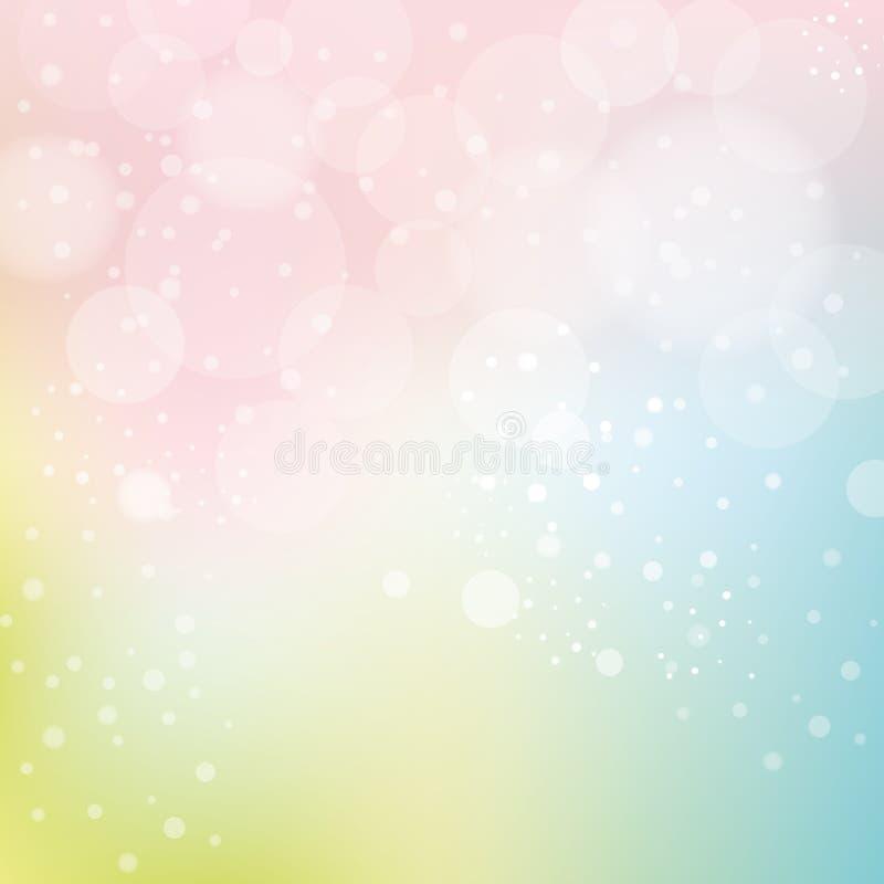 Glatter Pastellhintergrund mit Bokeh lizenzfreie abbildung