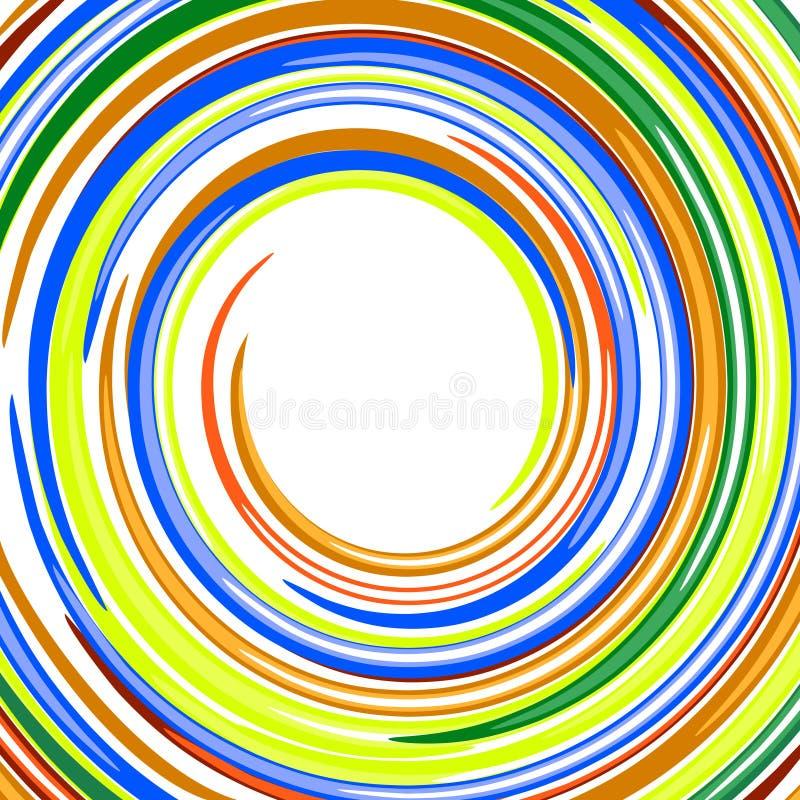 Glatter Regenbogen des abstrakten Strudels färbt Vektorbackgr stock abbildung