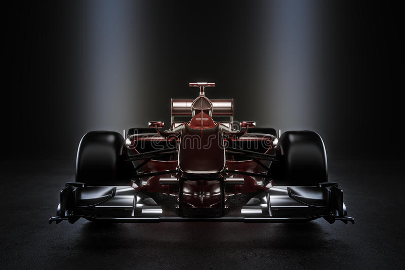Glatter Teammotorsportrennwagen mit Studiobeleuchtung lizenzfreie abbildung