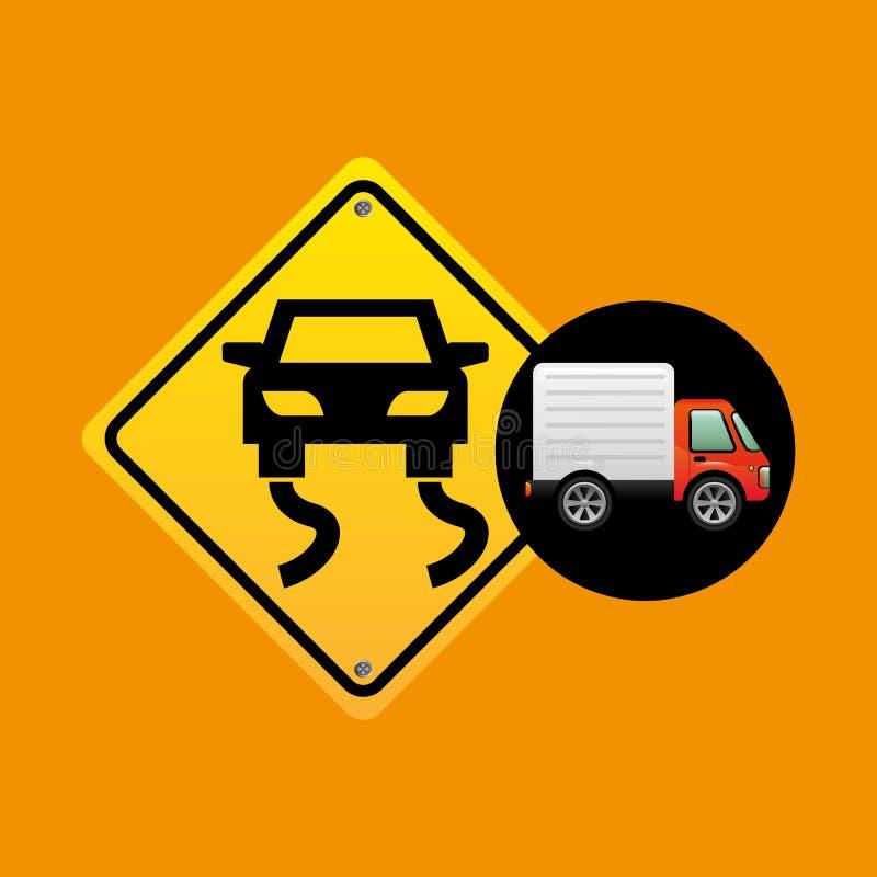 Glattes Verkehrszeichenkonzept lizenzfreie abbildung