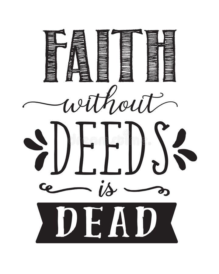Glaube ohne Briefe ist tote Kalligraphie lizenzfreie abbildung