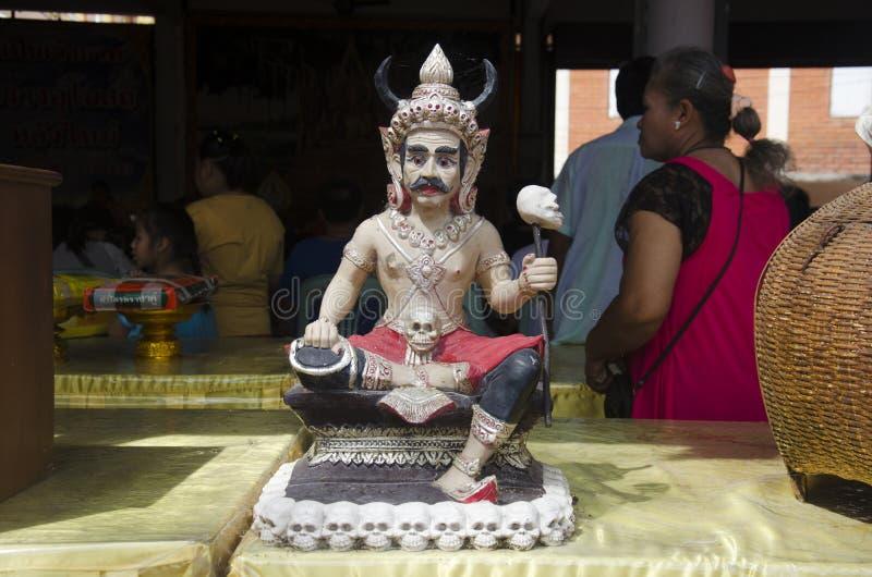 Glaube von Buddhismus über Zahl Statue Prinzen von Teufeln und von Geist lizenzfreie stockfotos