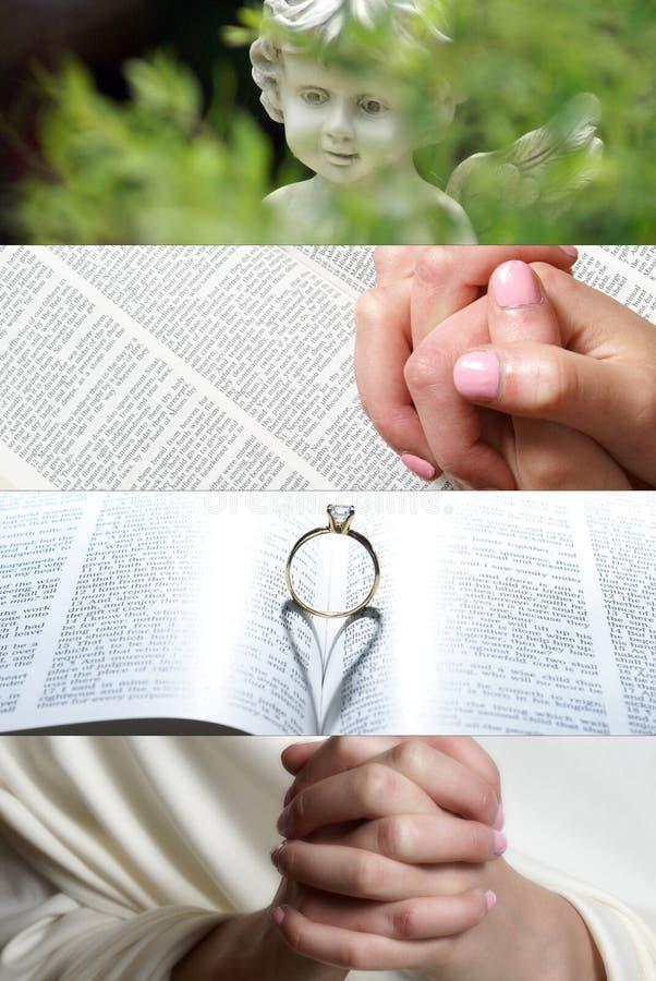 Glauben-Collage lizenzfreies stockbild
