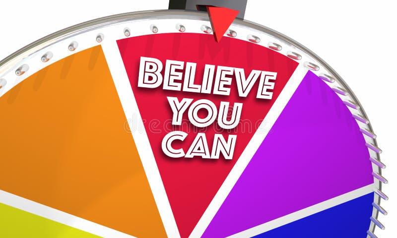 Glauben Sie, dass Sie Glauben-Vertrauens-Spiel-Rad hoffen können stock abbildung