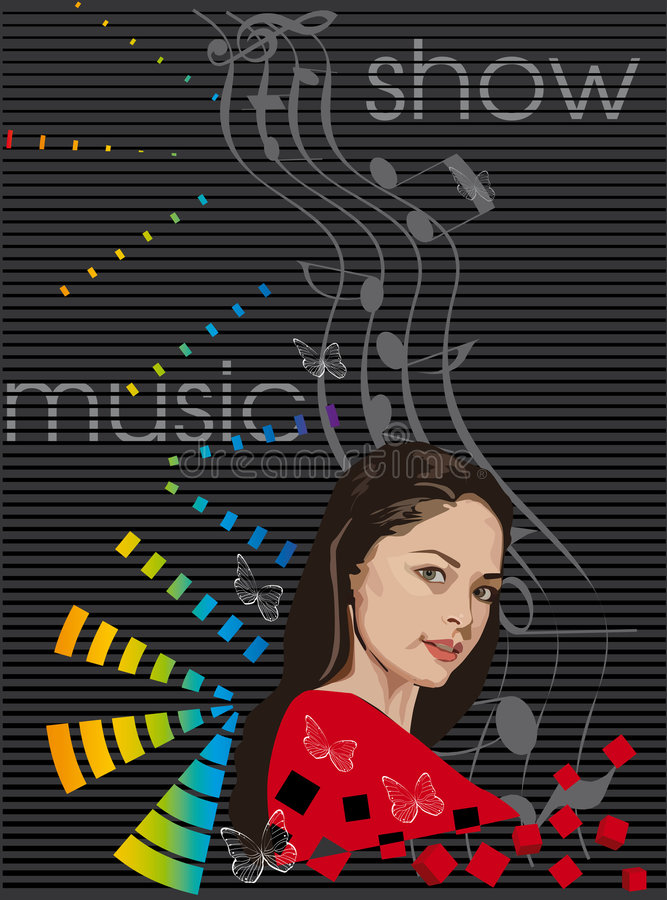 Glauben Sie der Musik vektor abbildung