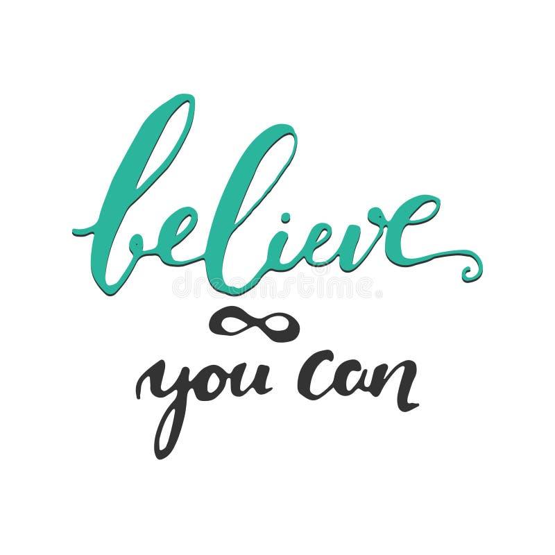 Glauben Sie an selbst Inspirierend und Motivationszitat vektor abbildung