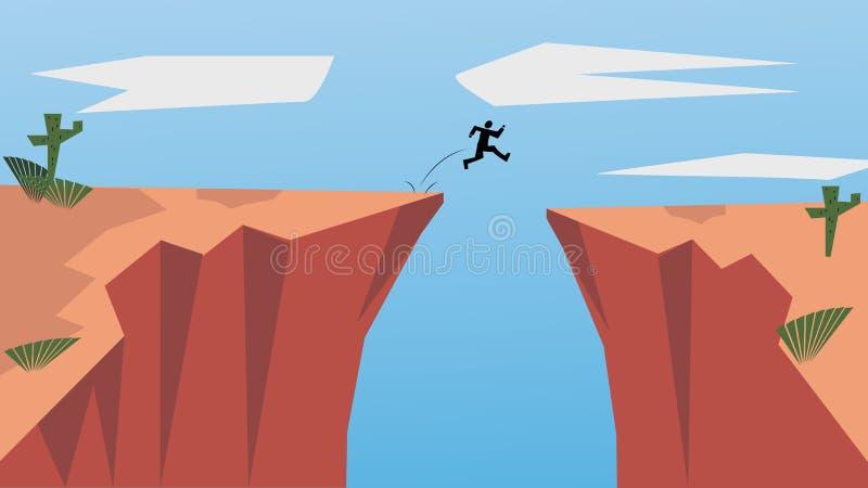 Glauben Sie an selbst und trauen Sie sich zu sein sich Gehen Sie Risiko im Leben ein und bewegen Sie sich für Ihre Ziele Der spri stock abbildung