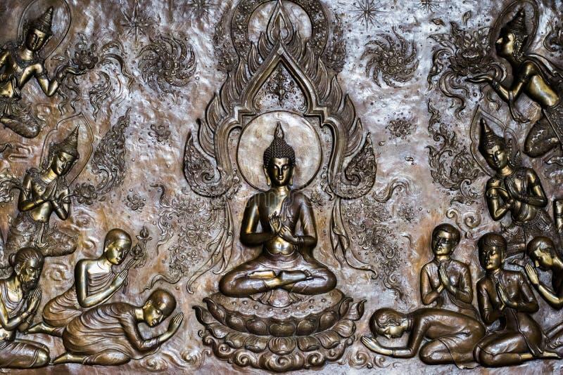 Glauben Sie an thailändische Leute Buddhas stockbild
