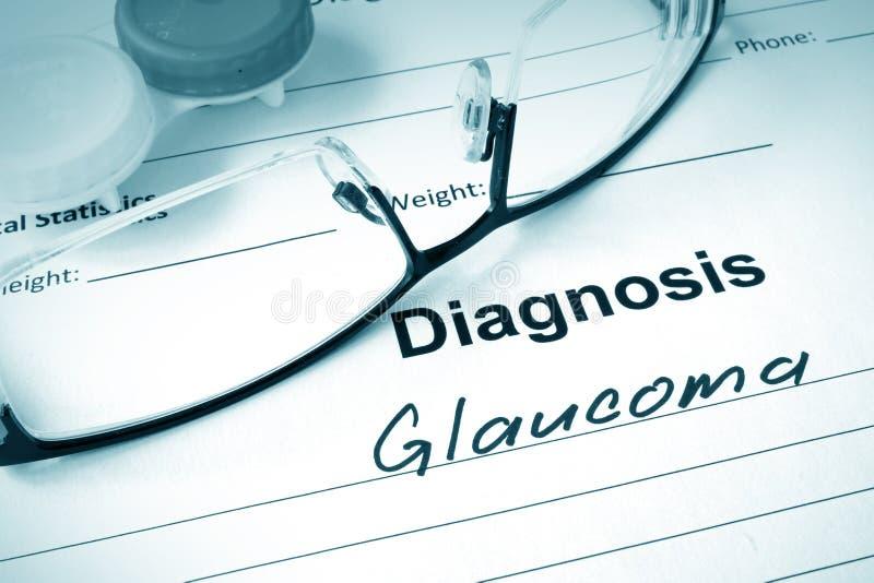 glaucoma fotografia stock