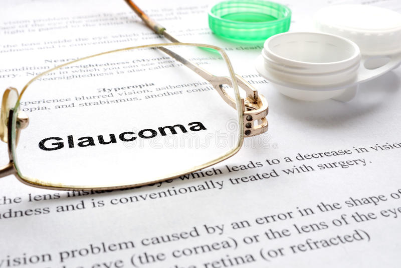 glaucoom stock fotografie